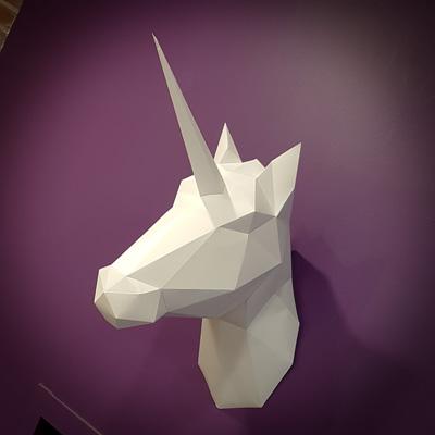 Tête de licorne en origami