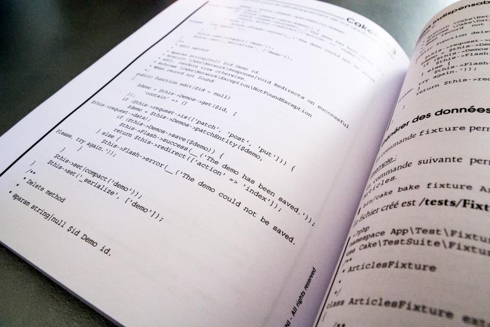 Livre cakephp 3 avec exemple