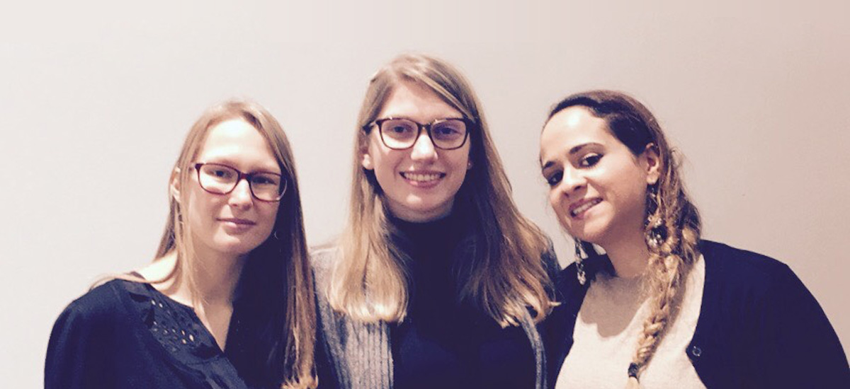 Perrine Hainaut, Marie-Amélie Bocquet, Awatif Bouyachcher porteuses du projet 2WorkSafe